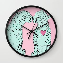 Mint Chocolate Chip Cheetahs Wall Clock