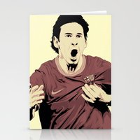 messi Stationery Cards featuring Messi by Renan Lacerda