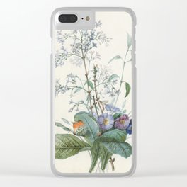 Vintage Botanical - A Bouquet of Flowers with Insects Clear iPhone Case