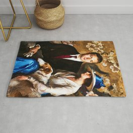 Classical Masterpiece: Edmund, Mary, and Sergius by Edmund Tarbell Rug