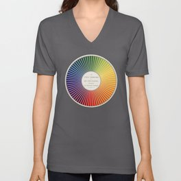 Chevreul Cercle Chromatique, 1861 Remake, renewed version Unisex V-Neck