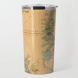 Map of Mississippi River 1858 Travel Mug