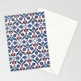 Iznik Tile Pattern Red Blue White Green Stationery Cards