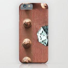 Door Knob #3 on Painted Wooden Door iPhone Case
