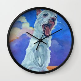 Special Needs Pippin Dog Portrait Wall Clock