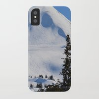 skiing iPhone & iPod Cases featuring Back-Country Skiing  - III by Alaskan Momma Bear