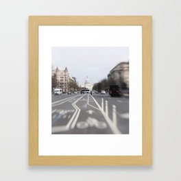 In the Streets of DC Framed Art Print