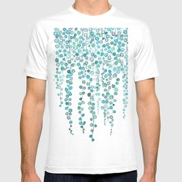 String Of Pearls plants watercolor 2 T-shirt