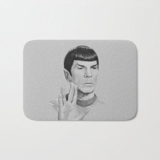 Spock Portrait Star Trek Bath Mat