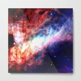 The Omega Nebula Vibrant Metal Print