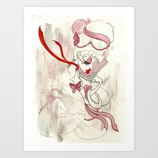 Rose de Charme Art Print