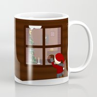 cabin Mugs featuring Holiday Cabin by Cecily Cloud
