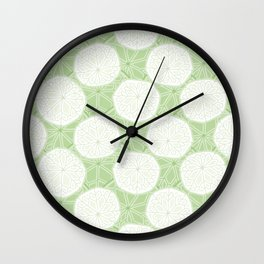 Rounded Pennywort Foliage Pattern Wall Clock