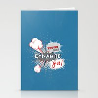 wreck it ralph Stationery Cards featuring You're one dynamite Gal.. funny disney pixar.. wreck it ralph quote by studiomarshallarts