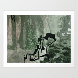Verdant Distortion Art Print