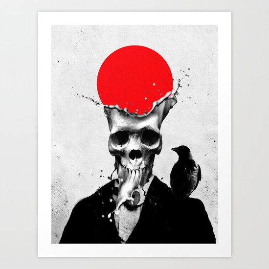 SPLASH SKULL Art Print