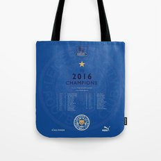 Tribute to Leicester Football Club - 2016 Premier League Champions, BLUE version Tote Bag
