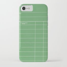 Library Card BSS 28 Negative Green iPhone Case