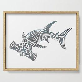 Tribal Hammerhead Shark Serving Tray