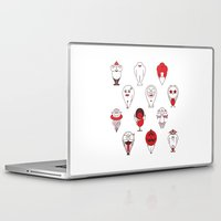 calendar Laptop & iPad Skins featuring Calendar monsters by Nika Belova