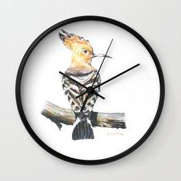 The Eurasian hoopoe (Upupa epops) Wall Clock