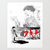 akira Art Prints featuring Akira by SKTCHY!
