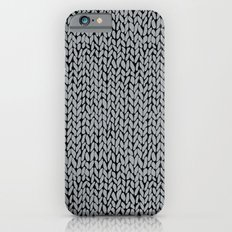Hand Knit Grey And Black iPhone 6s Slim Case