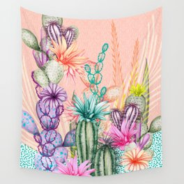 Cacti Love Wall Tapestry
