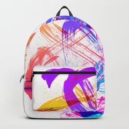 Vibrant and Expressive Multicolor Brushstrokes Backpack