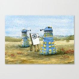 Dalek Painting Canvas Print