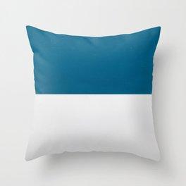 Blue over White Throw Pillow