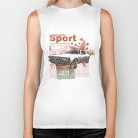 muscle Biker Tanks featuring Muscle Car by Tshirt-Factory