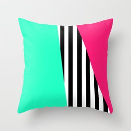 Candy Stripe Sectors Throw Pillow