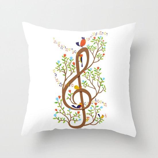 Song birds Throw Pillow