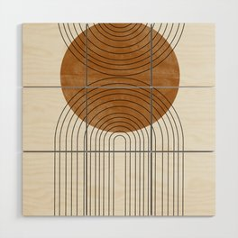 Abstract Flow Wood Wall Art