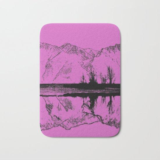 Knik River Mts. Pop Art - 5 Bath Mat
