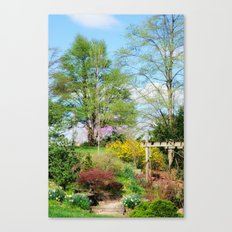 Spring Garden Setting Canvas Print
