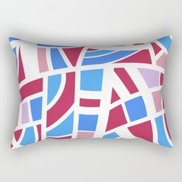 Broken Pink And Blue Abstract Rectangular Pillow