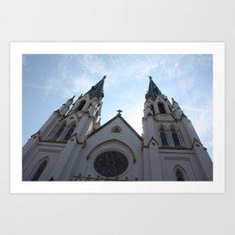Cathedral, Savannah Ga. Art Print
