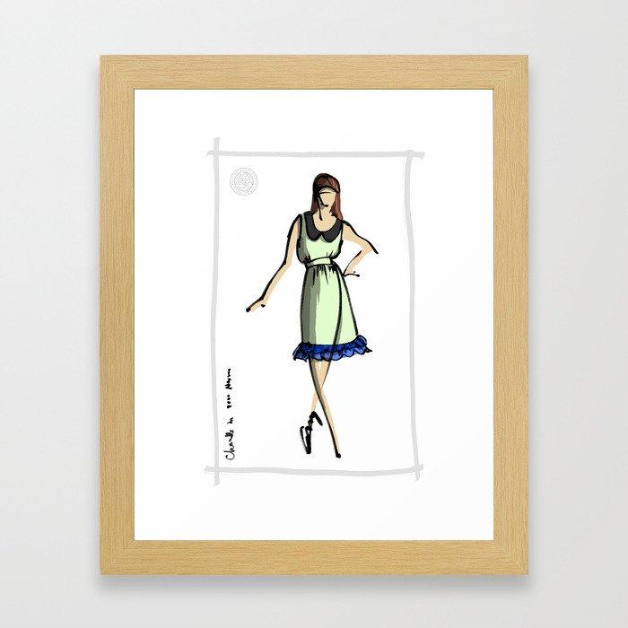 Chanelle in 8000Nerves Framed Art Print
