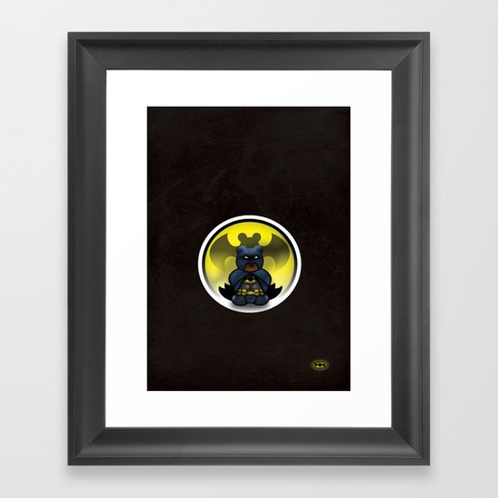 Super Bears - the Moody One Framed Art Print