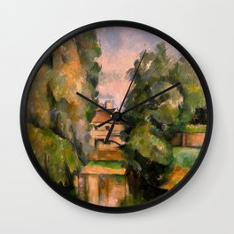 Paul Cézanne - Country House by a River Wall Clock