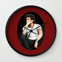 zayn Wall Clocks featuring Zayn  by clevernessofyou
