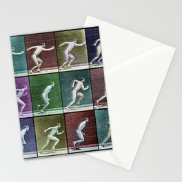 Time Lapse Motion Study Man Running Monochrome Stationery Cards
