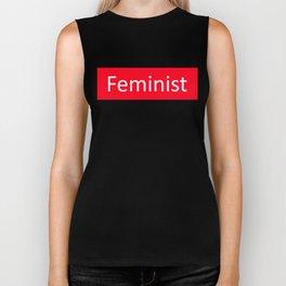 Feminist Red Rectangle Biker Tank