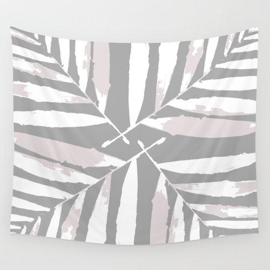 Geometric, white, light grey, silver,  tropical, autumn, fall, pattern, Palm, leaves, society6 by designeddreams