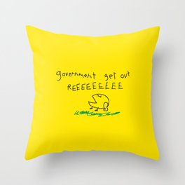 Government get out REEEEEEE SNEKRIGHT- Libertarian No Step on Snek Don't Tread on Me Throw Pillow