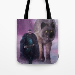 Winter Wolves Tote Bag