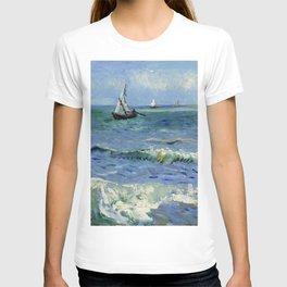 """Vincent Van Gogh """"The Sea at Les Saintes-Maries-de-la-Mer"""" T-shirt"""