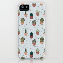 Succulent Plants Plant Lady Pattern Design  iPhone Case